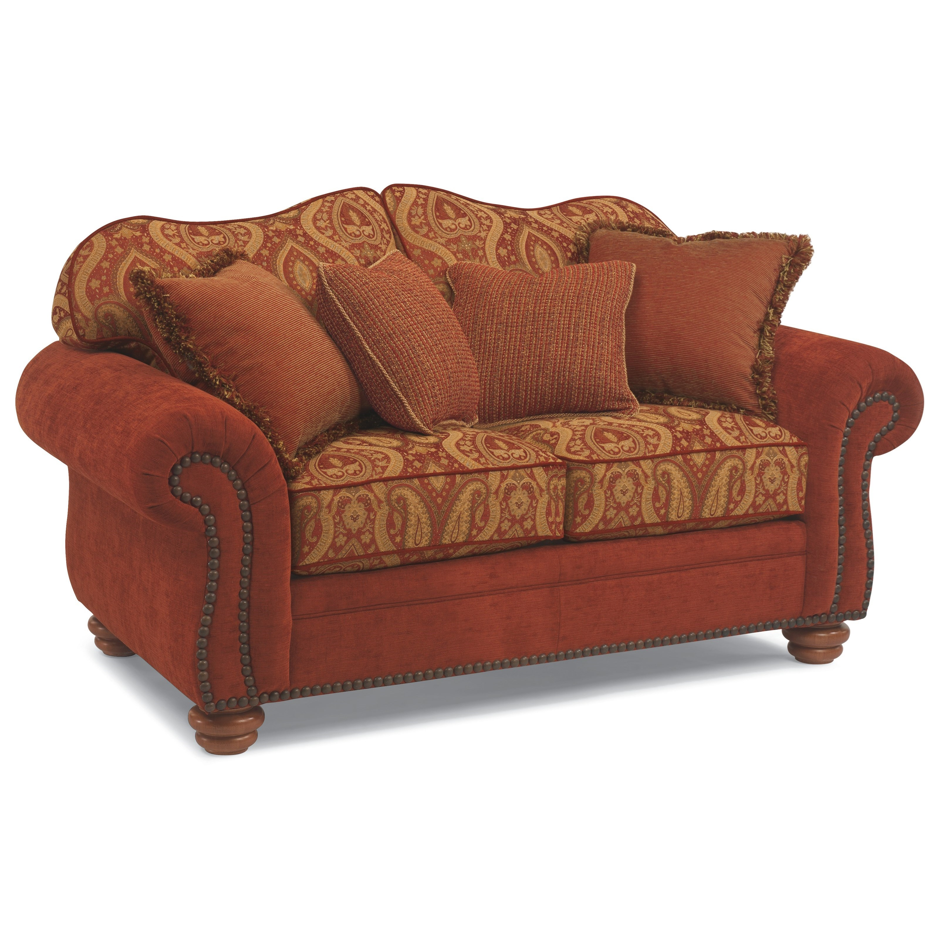 flexsteel bexley sofa warehouse clearance manchester melange love seat with nails wayside