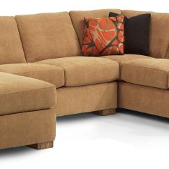 Flexsteel Sectional Sofas Curved Sofa Bryant Contemporary 3 Pc With