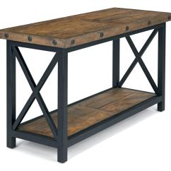 Sofa Tables And More Build A Flexsteel Carpenter Table With Rectangle Wood Plank