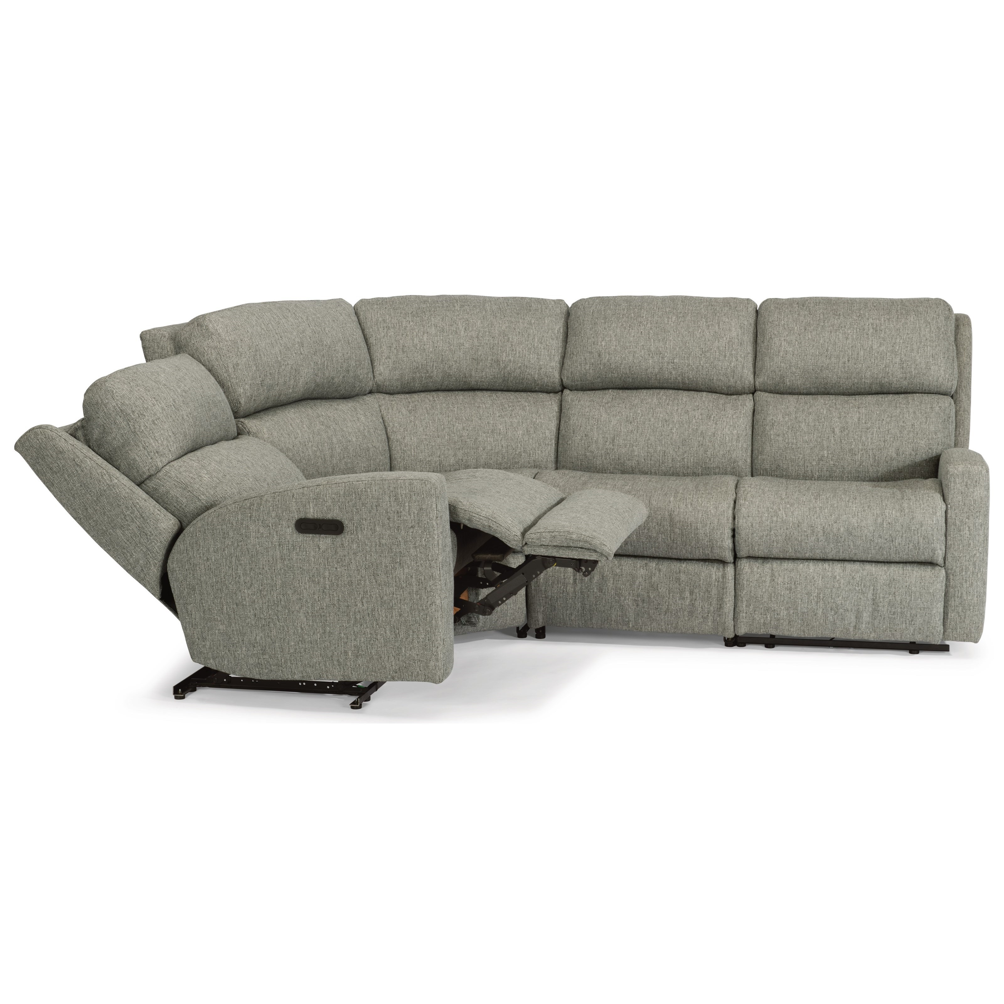 4 piece recliner sectional sofa how to make slipcovers for sofas flexsteel catalina four power reclining