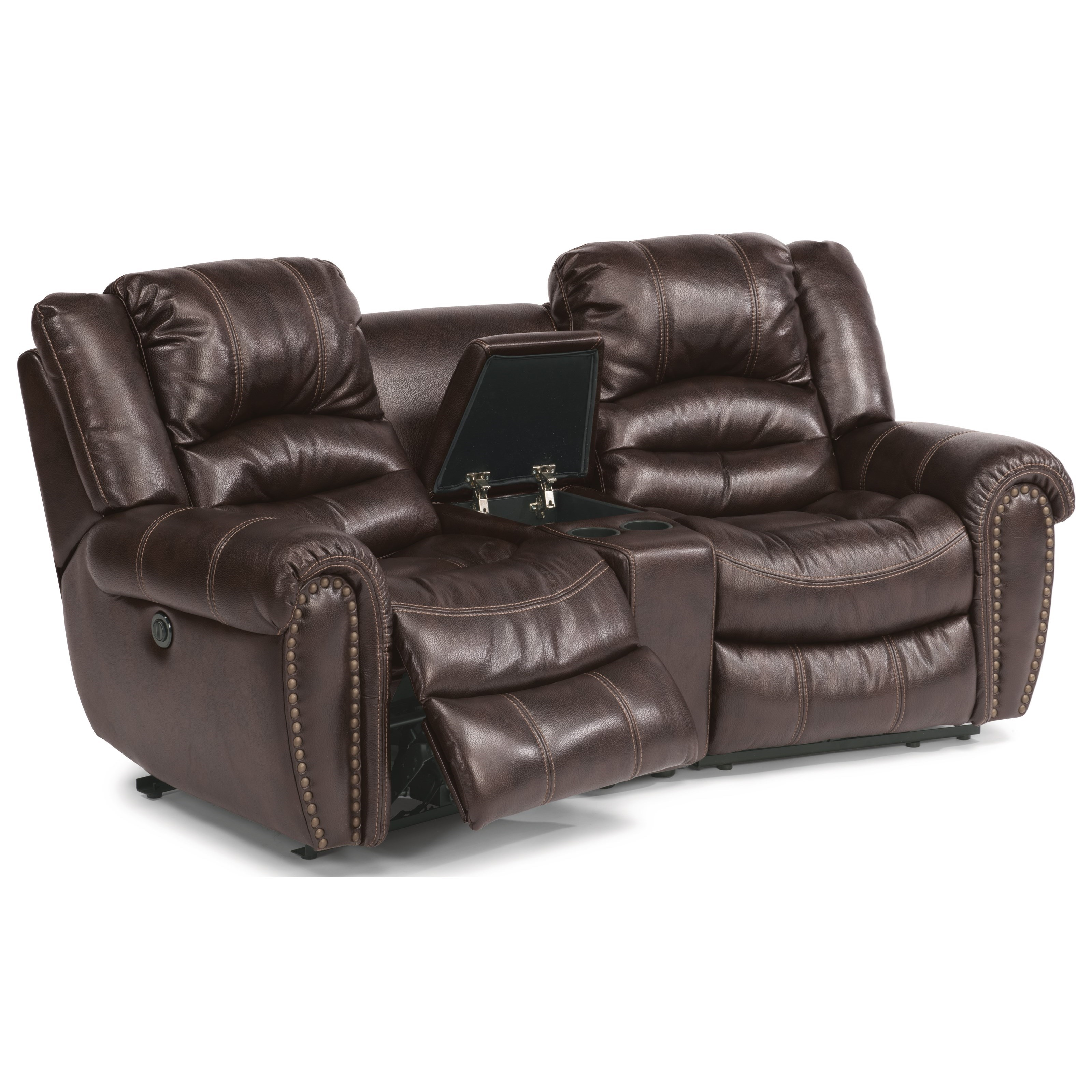 flexsteel leather sofa price bed steel frame crosstown three piece power reclining sectional