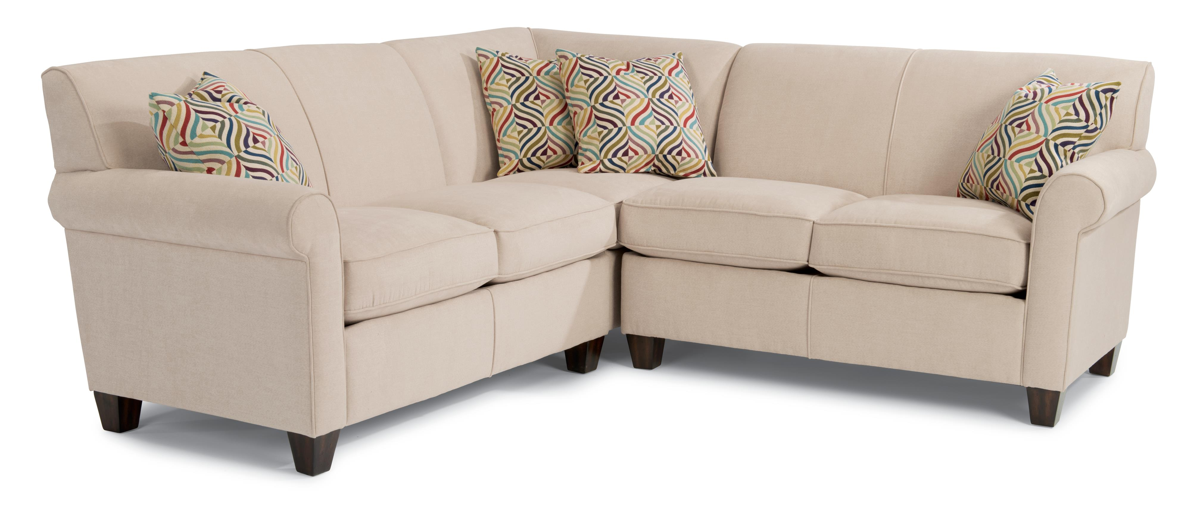 flexsteel sectional sofas futura leather sofa and loveseat dana three piece corner olinde