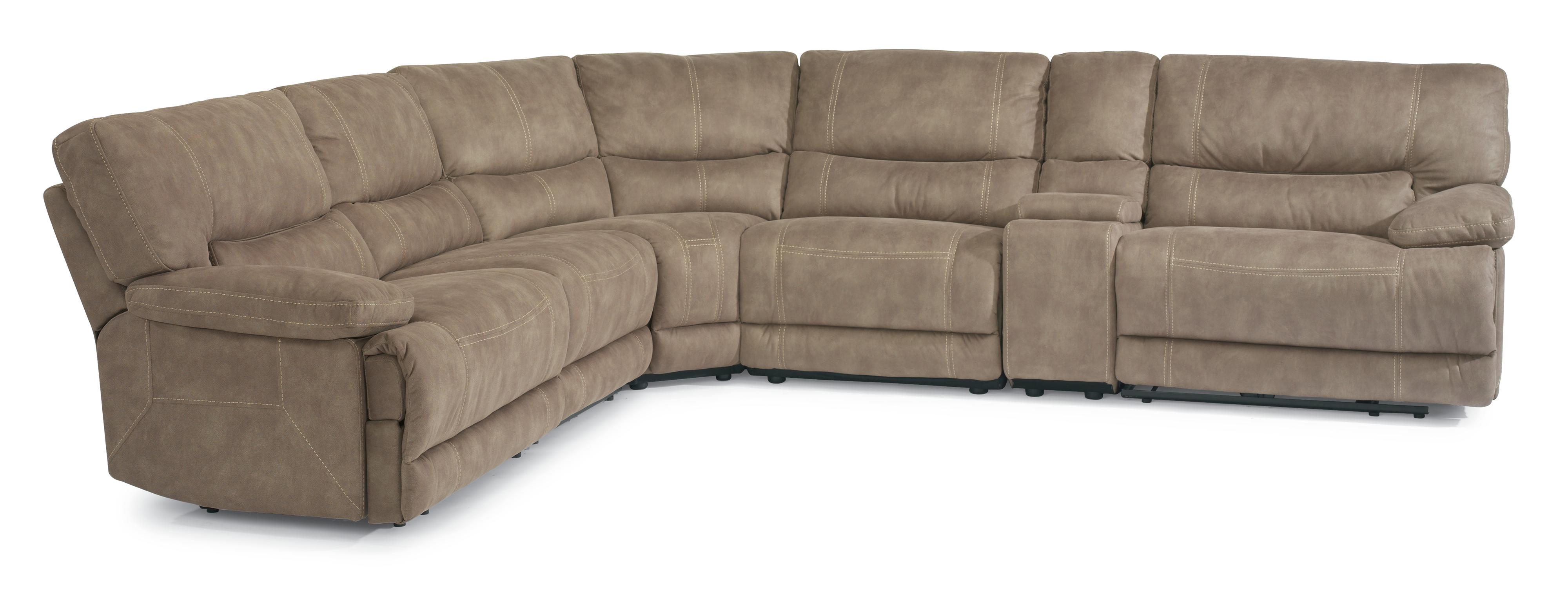 flexsteel leather sofa price chestnut table latitudes delia reclining sectional with