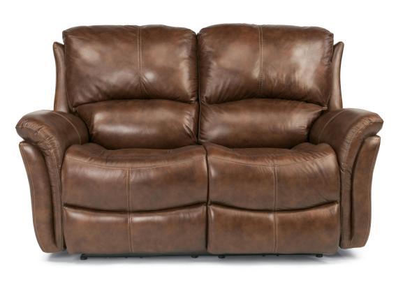 Flexsteel Leather Power Reclining Sofa