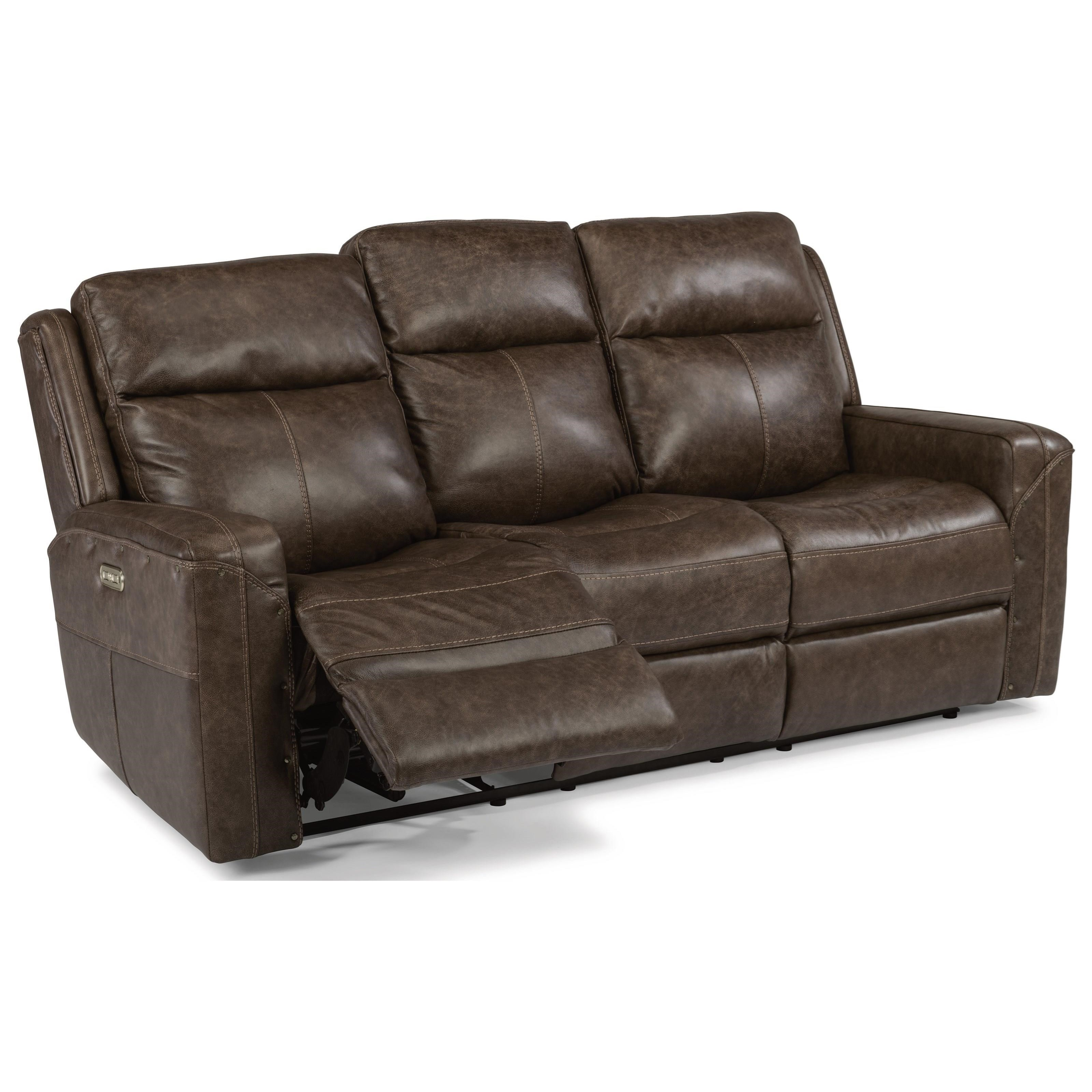flexsteel leather sofa price dallas cowboys latitudes gunner power reclining with