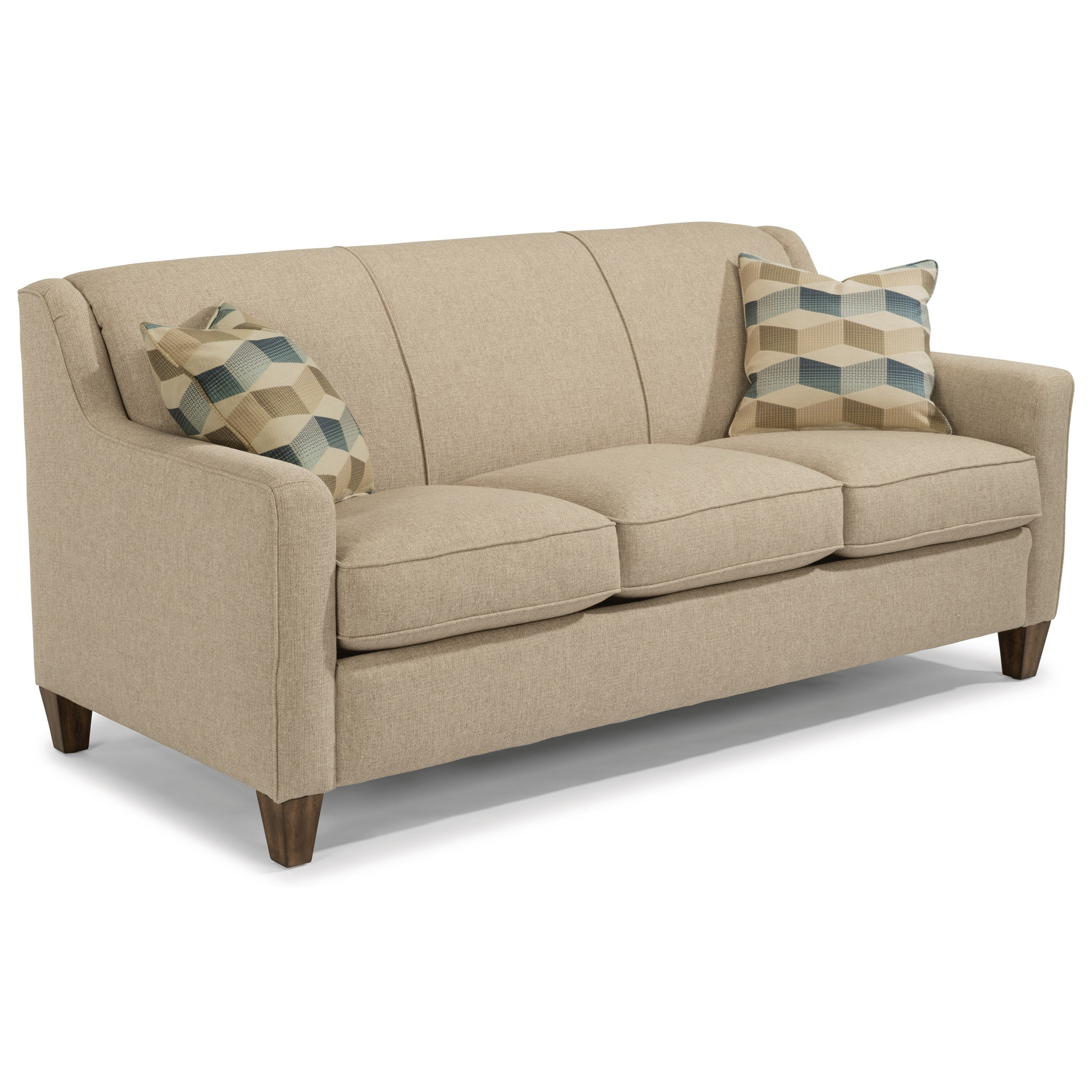 leather possibilities track arm sofa upholstery cleaning service flexsteel holly contemporary queen sleeper with
