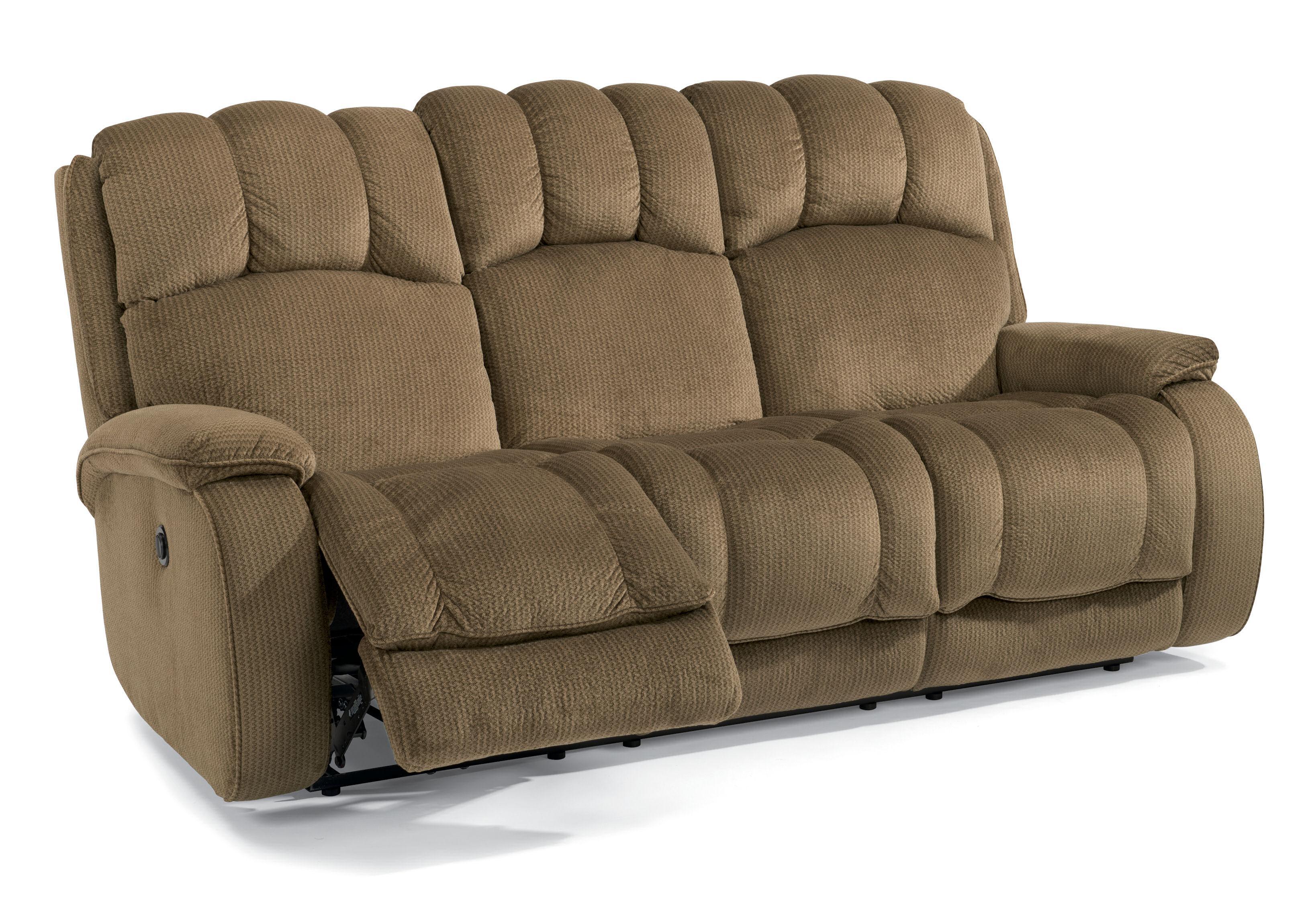 flexsteel reclining sofa warranty sack bean bags bag chair 3 charcoal huron casual power with plush