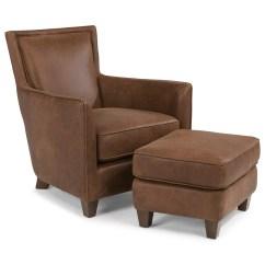Flexsteel Sofa Sets Pottery Barn Cushion Covers Latitudes Kingston Contemporary Leather Chair