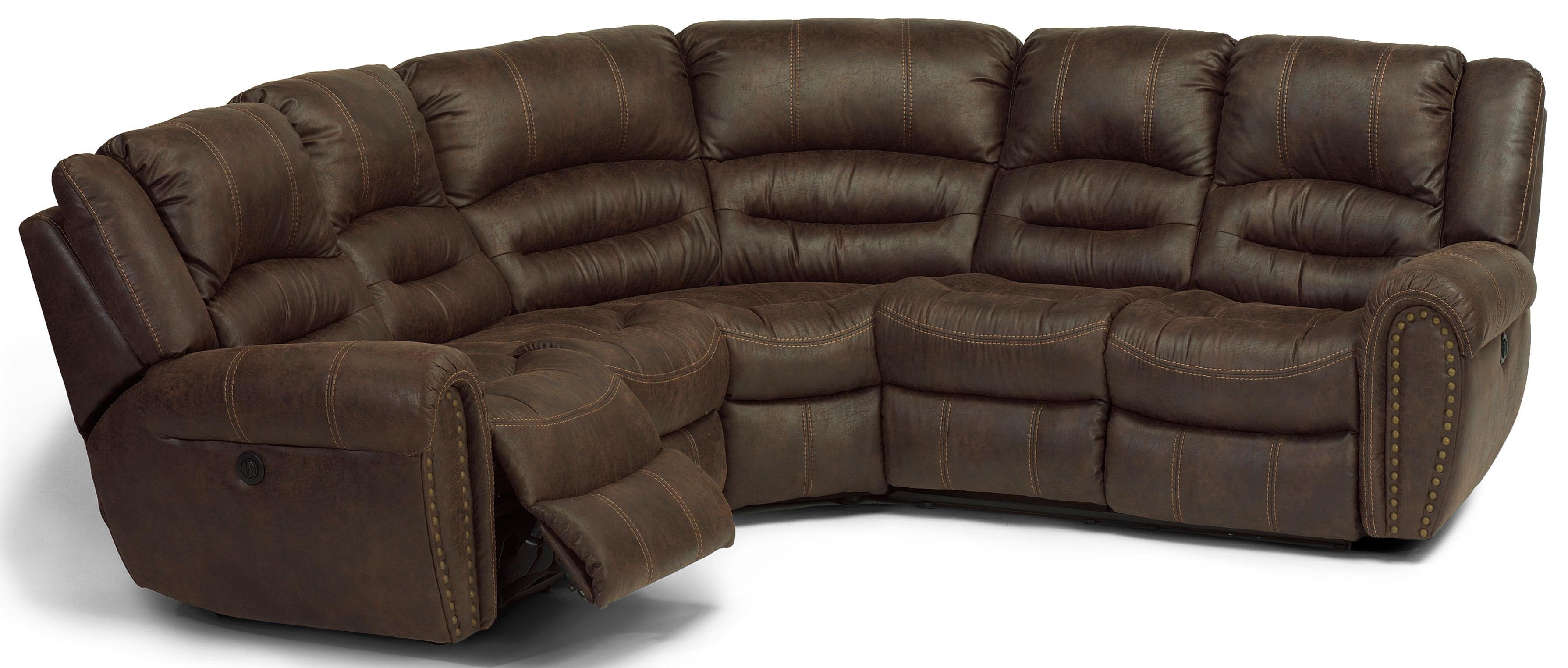 flexsteel sectional sofas cheapest latitudes downtown power reclining 3 pc