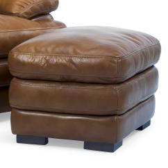 Leather Chair Ottoman Office Lubricant Flexsteel Latitudes Dylan Double Top