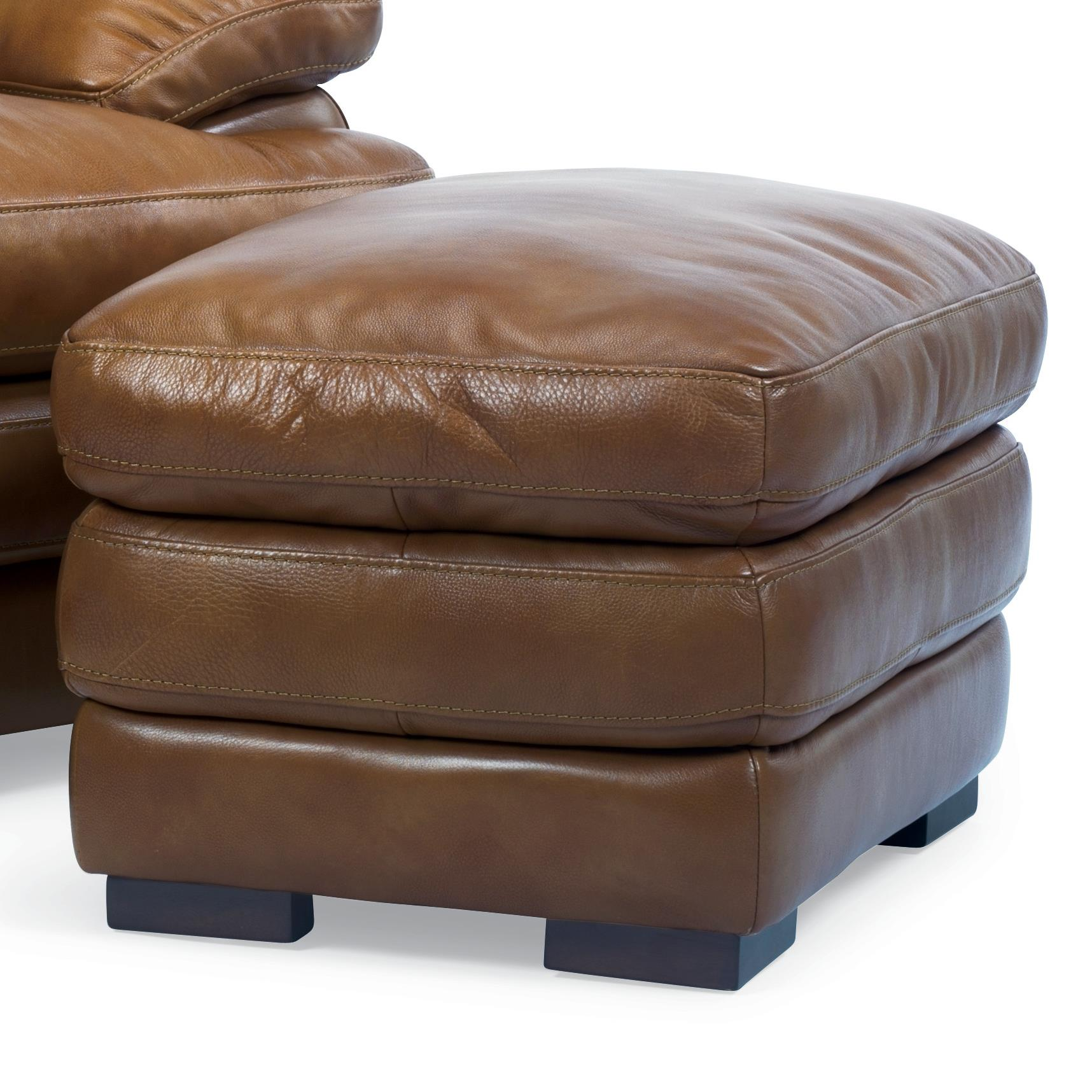 Double Chair With Ottoman Flexsteel Latitudes Dylan Double Top Leather Ottoman