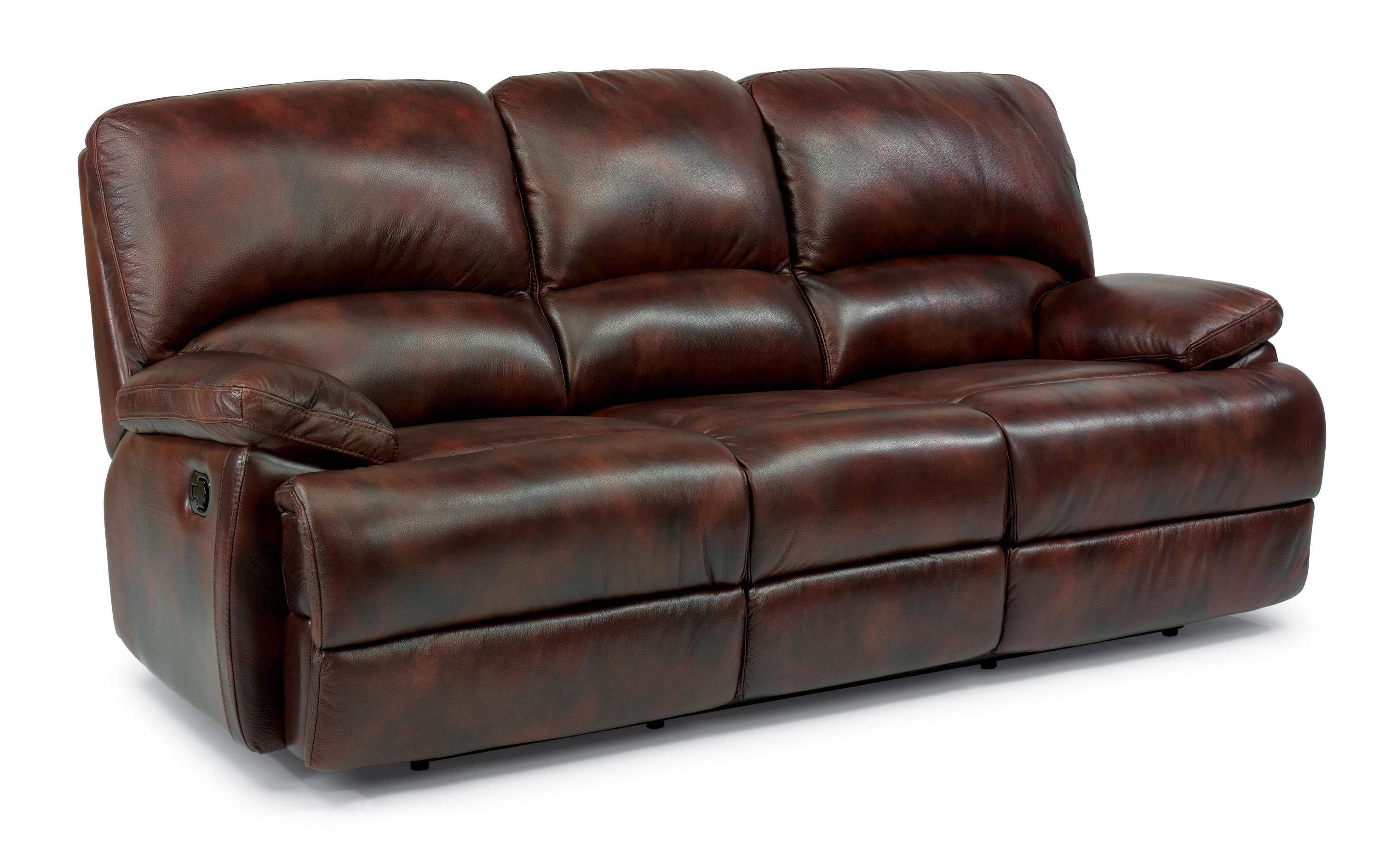 flexsteel recliner sofa black corner bed with storage dylan reclining 100 leather