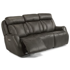 Crescent Power Sofa Recliner With Headrest Macy S Martha Stewart Tufted Flexsteel Latitudes Felix Contemporary Reclining