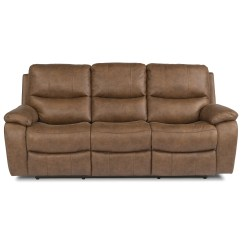 Flexsteel Capitol Double Reclining Sofa Average Cost Of A Leather Latitudes Hendrix Power With