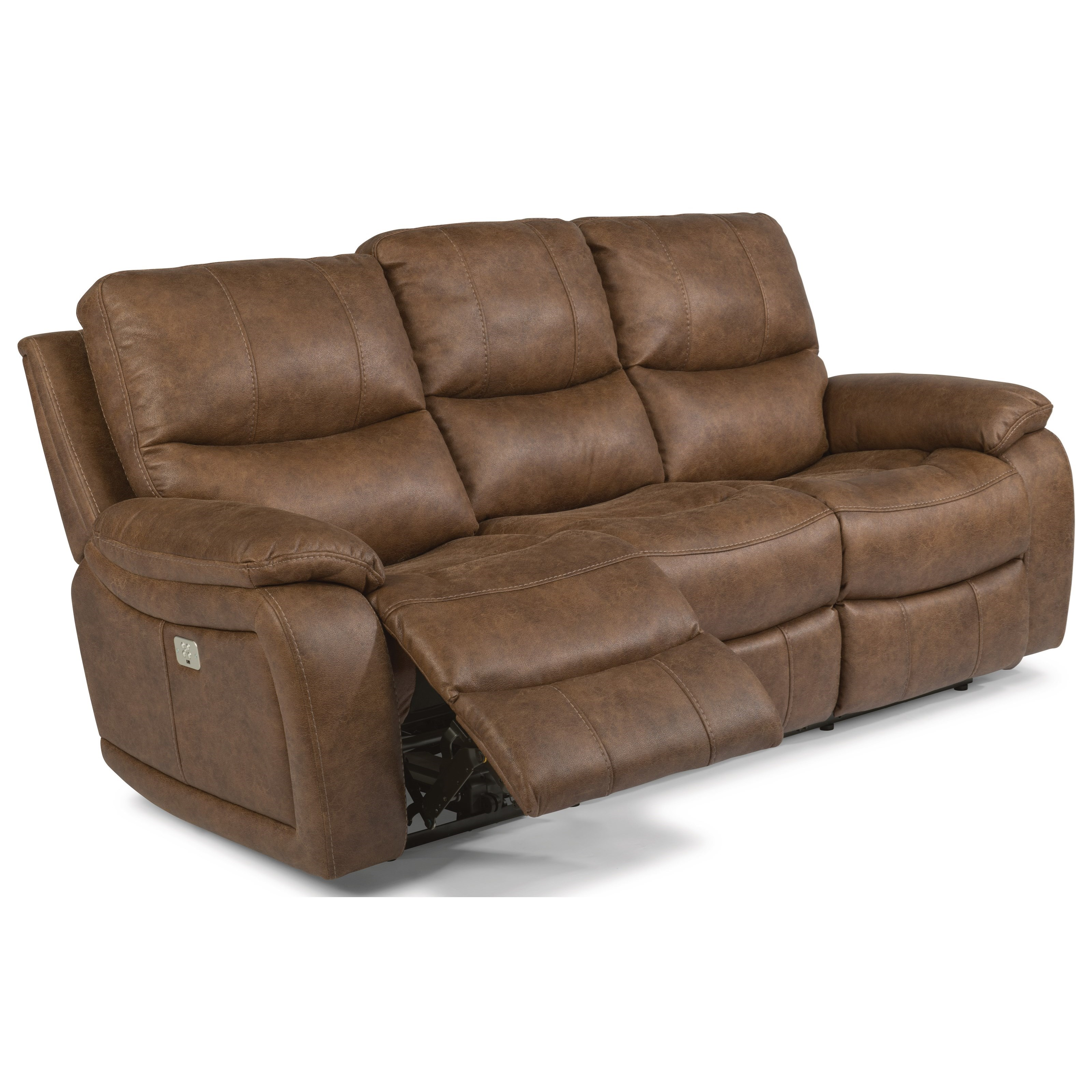 flexsteel capitol double reclining sofa reupholstering cushions latitudes hendrix power with