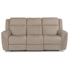 Crescent Power Sofa Recliner With Headrest Microfiber Reclining Flexsteel Latitudes Silas Casual