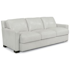 White Leather Sofa With Nailheads New England Horsham Flexsteel Latitudes Blake Contemporary Nailhead