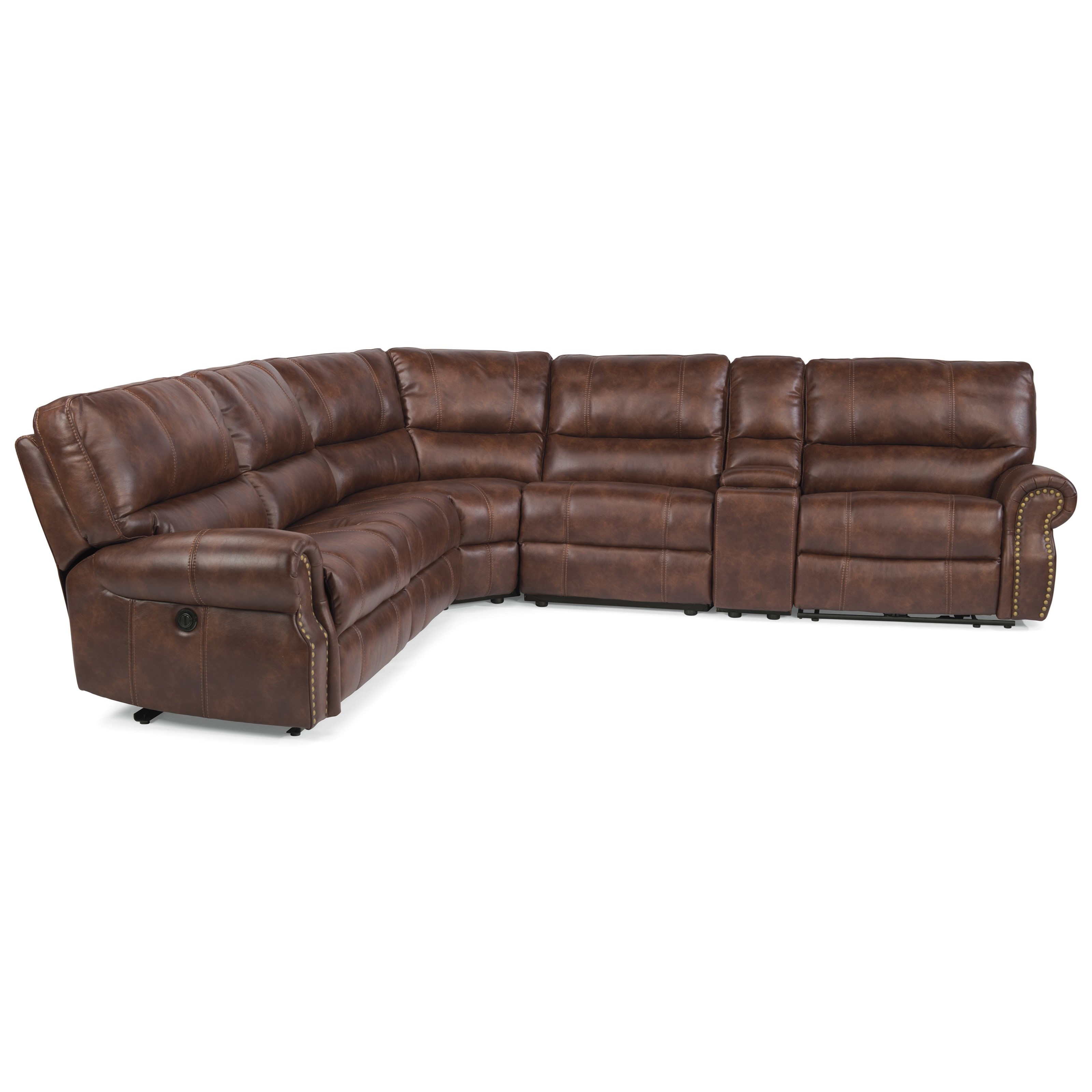 flexsteel sectional sofas cleo sofa loafer large latitudes carlton traditional l shaped 6 piece