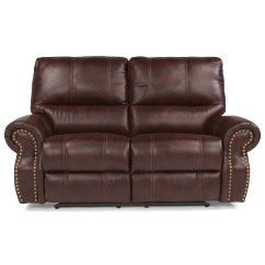 Nailhead Recliner Sofa Sale Of Sofas Flexsteel Latitudes Carlton Traditional Power Reclining
