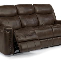 Reclining Sofa With Nailhead Trim Bad Sofas Flexsteel Latitudes Grover Power Nail