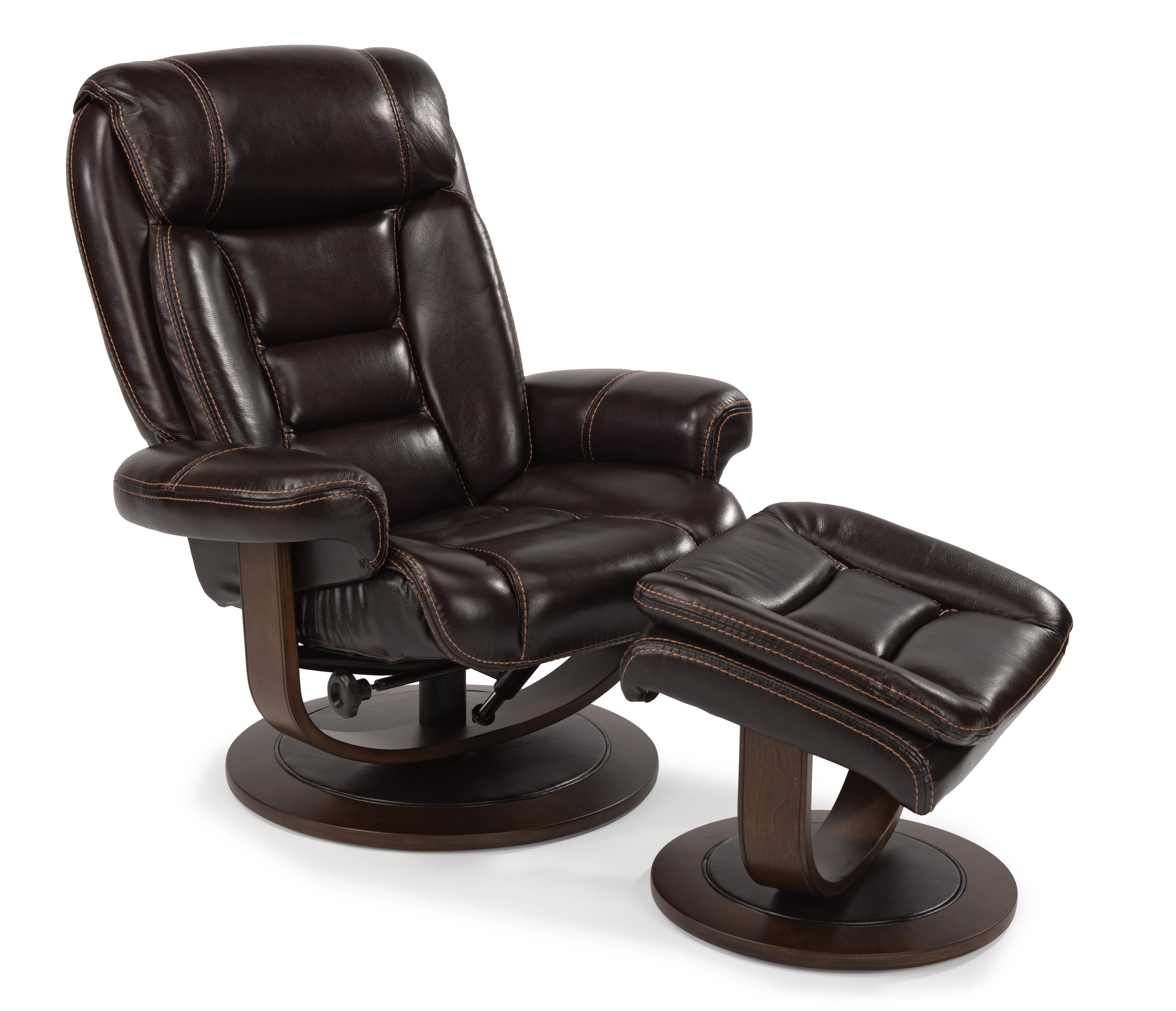 reclining chair and ottoman lowes cushions outdoor flexsteel latitudes hunter modern zero gravity