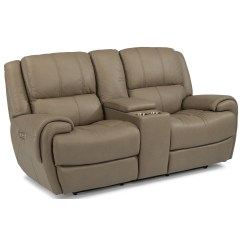 Crescent Power Sofa Recliner With Headrest Loveseat Set Flexsteel Latitudes Nance Casual Reclining