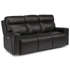 Crescent Power Sofa Recliner With Headrest Cb2 Sectional Sofas Flexsteel Latitudes Niko Contemporary Reclining