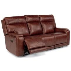 Two Cushion Power Reclining Sofa Yoga Flexsteel Latitudes Sienna 1675 62ph