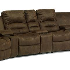 Flexsteel Sectional Sofas All Weather Rattan Corner Sofa Latitudes New Town Curved Reclining