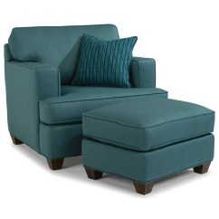 Flexsteel Sofa Sets Fur Throws Pierce Contemporary Chair And Ottoman Set With