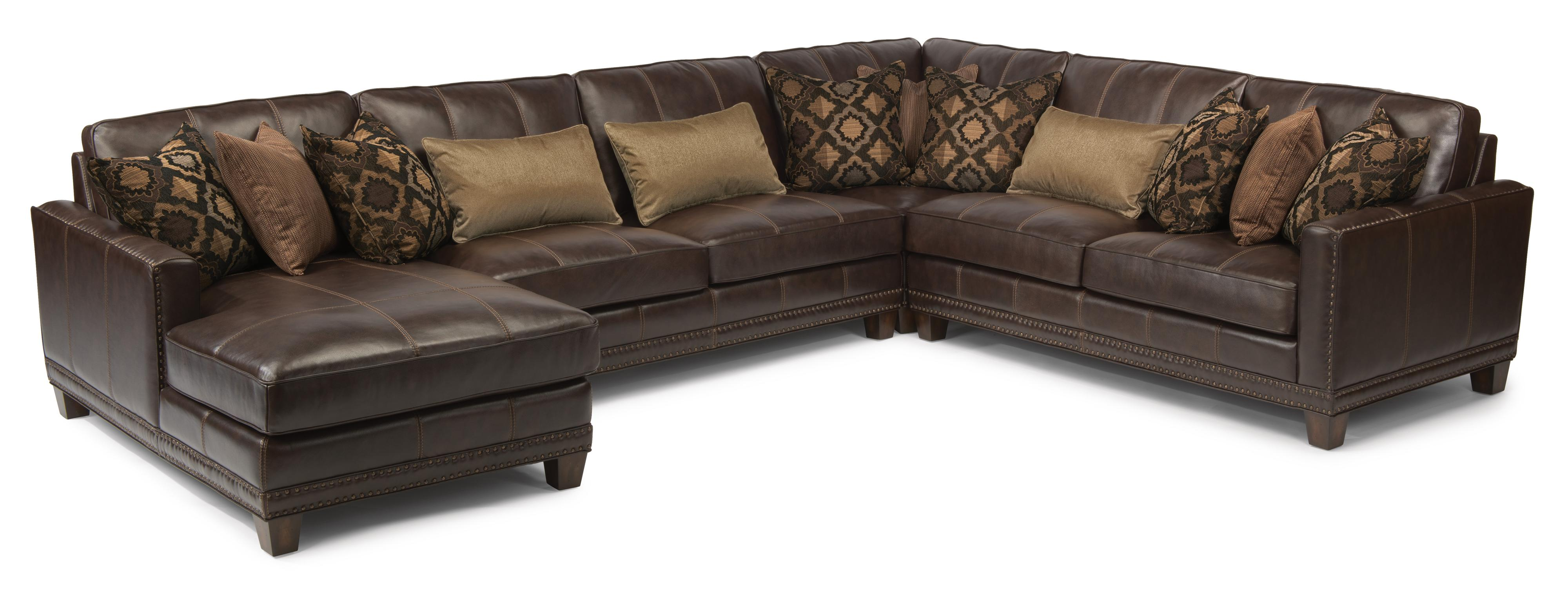 flexsteel sectional sofas sofa couch set latitudes port royal transitional four piece