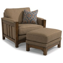 Flexsteel Sofa Sets Custom Slipcovers For Sofas Sonora Mission Chair And Ottoman Set With