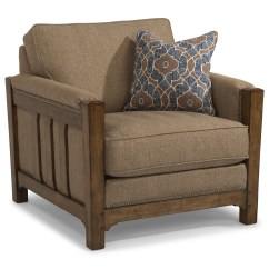 Flexsteel Sofa Sets Living Room Design Red Sonora 7944 10 Mission Chair With Nailhead Trim