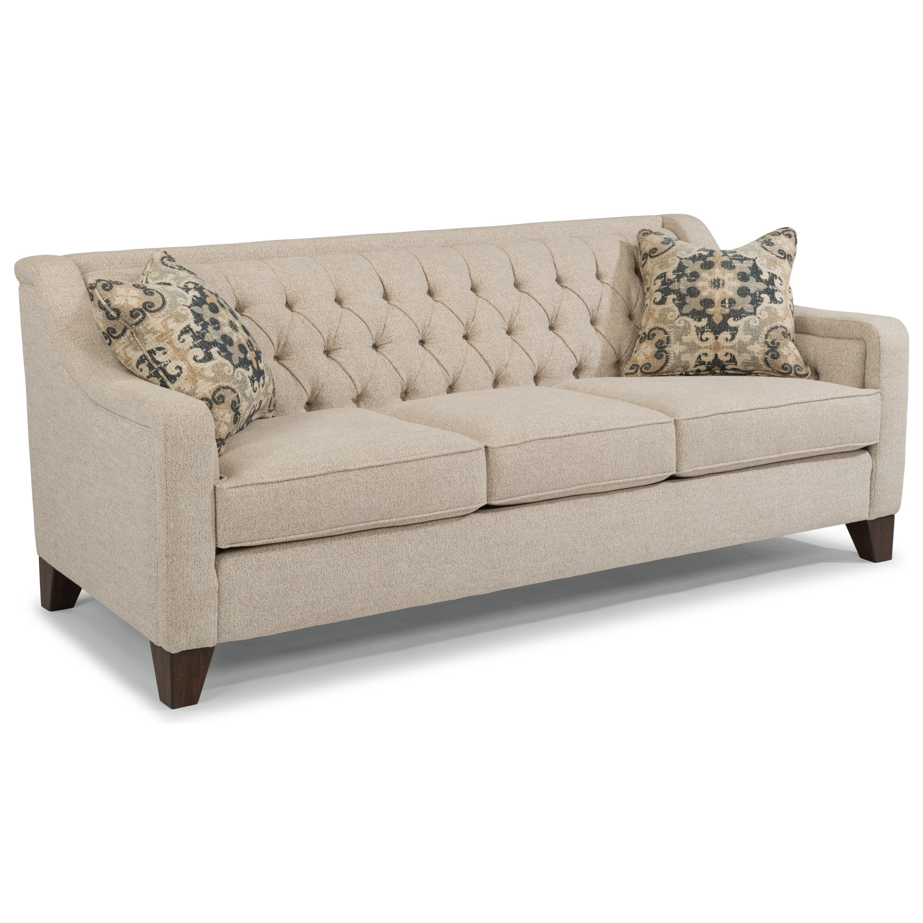 urban home sullivan sofa bed small spaces flexsteel 7103 31 contemporary with tufted