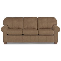 Flexsteel Sofa Bed Mattress Lovesac Long Paige Stationary Upholstered Crowley