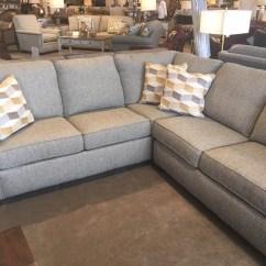 Flexsteel Thornton Sectional Sofa Custom Slip Covers 2 Pc Godby Home