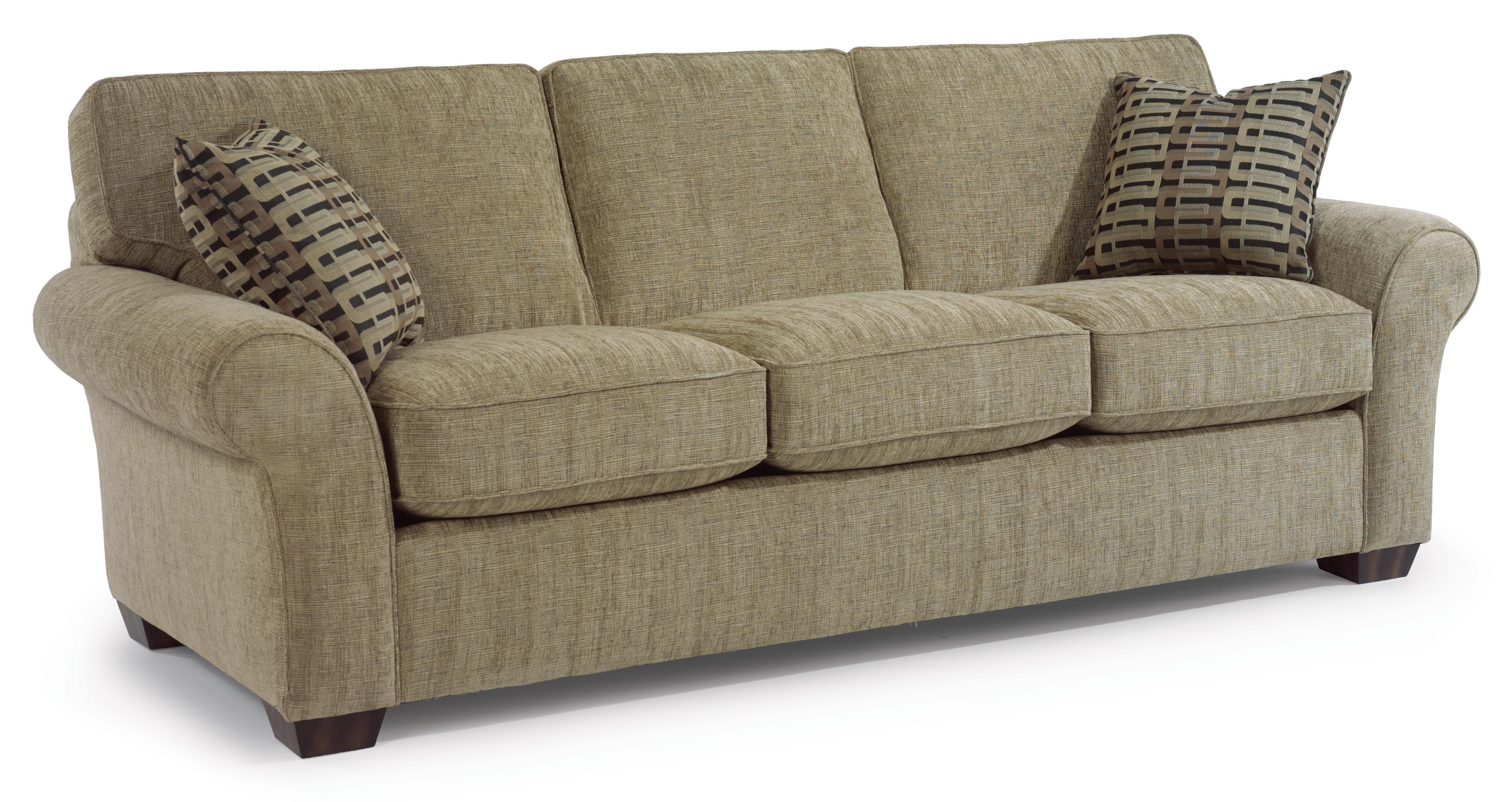 conversational sofa cover beachy sofas flexsteel vail 91 quot three cushion wayside