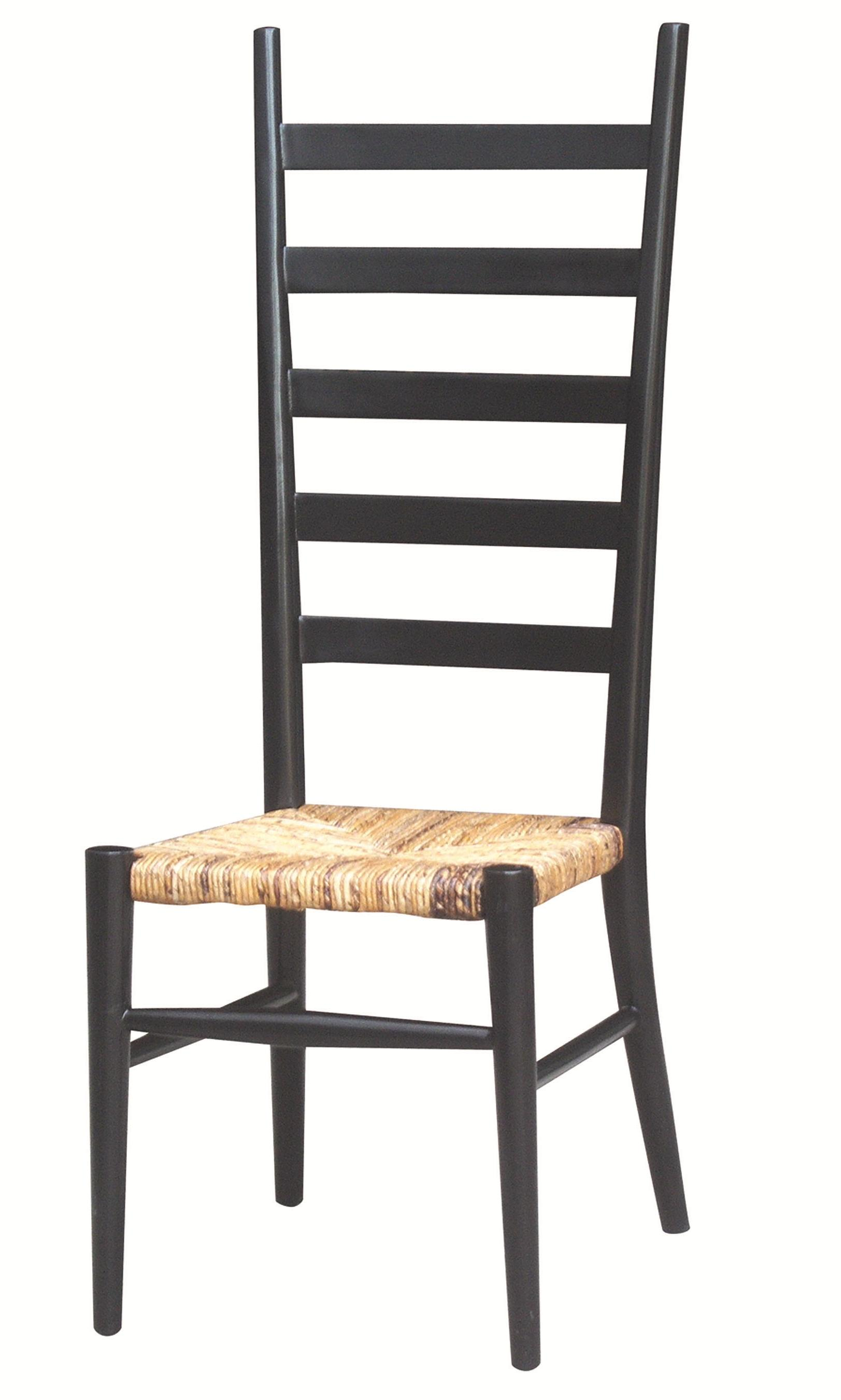 wicker ladder back chairs revolving chair height four hands grass roots tall dining w