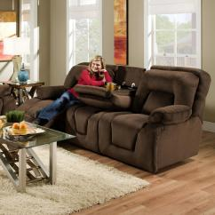 Double Reclining Sofa With Fold Down Table Bed Reviews Nz Franklin Sofas Dakota 59639 46