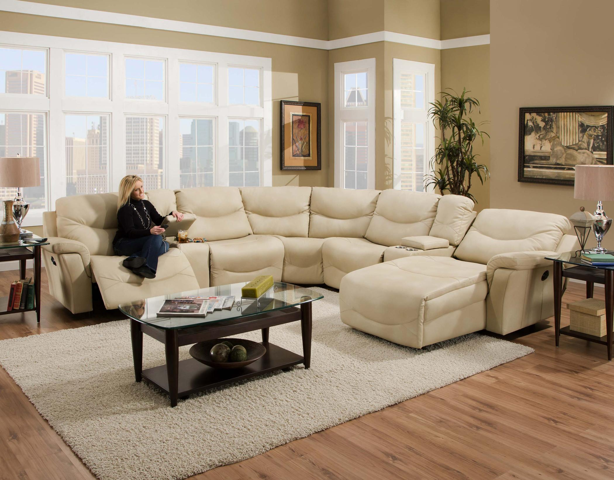 572 reclining sectional sofa with chaise by franklin oregon brown faux leather bed brayden thesofa
