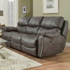 Nailhead Recliner Sofa Modular Leather Nz Franklin Richmond 75642 Reclining With Trim