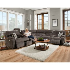 572 Reclining Sectional Sofa With Chaise By Franklin How To Clean A Leather That Smells Tribute 6 Seat Power