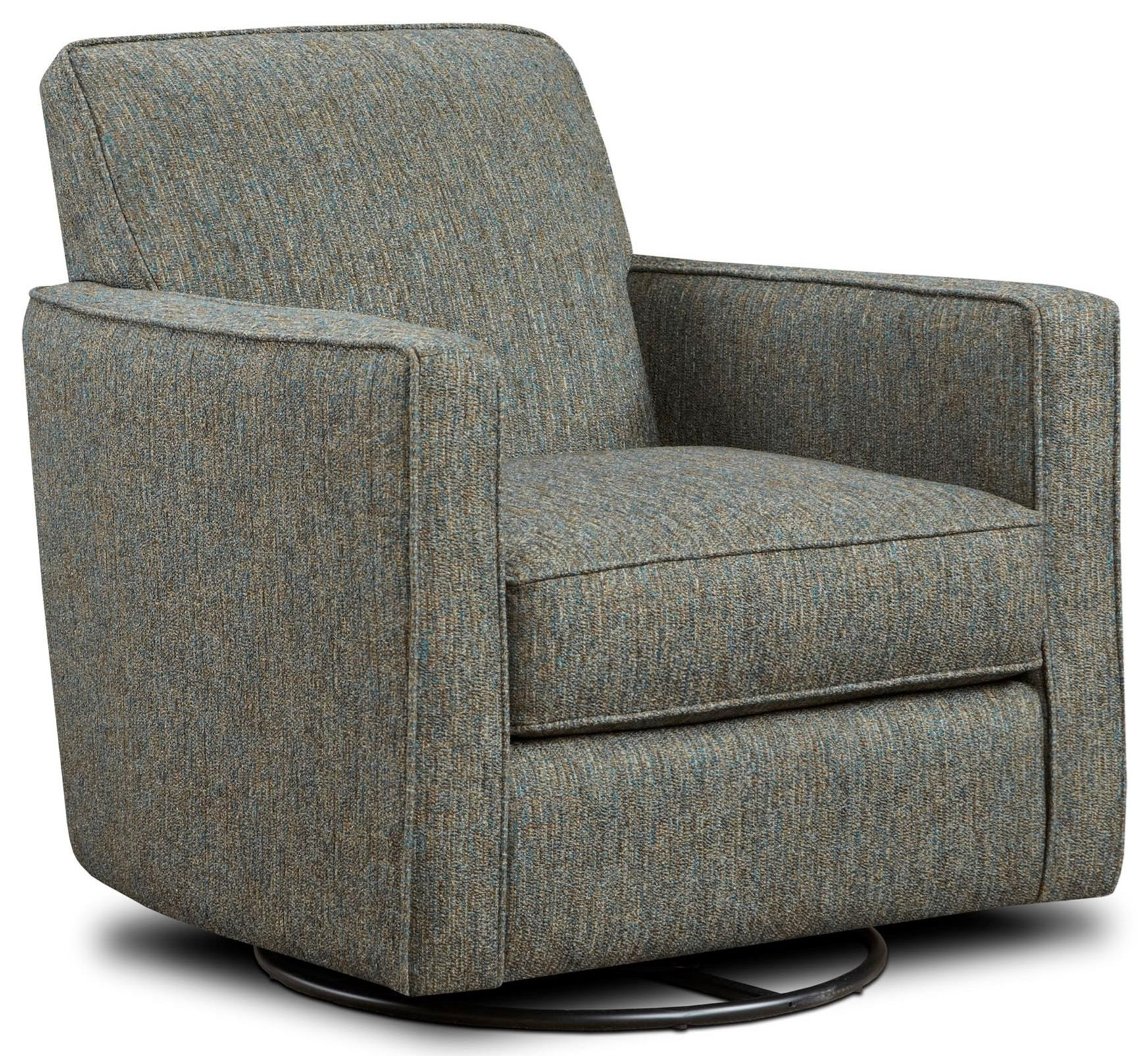 Upholstered Glider Chair Fusion Furniture 402 G Contemporary Swivel Glider With