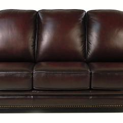 Leather Nailhead Sofa Set Replacement Cushions Memory Foam Loft Wallingford Traditional W