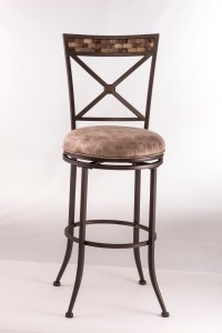 Metal Stools Swivel Counter Height Stool with X-Backrest ...