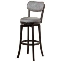 Wood Stools Swivel Bar Stool With Gray Full Back Rest ...