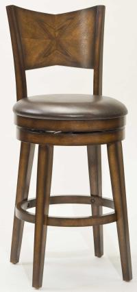 "Hillsdale Wood Stools 26.5"" Counter Height Jenkins Swivel ..."