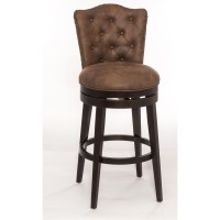 Hillsdale Wood Stools Swivel Bar Stool with Upholstered ...
