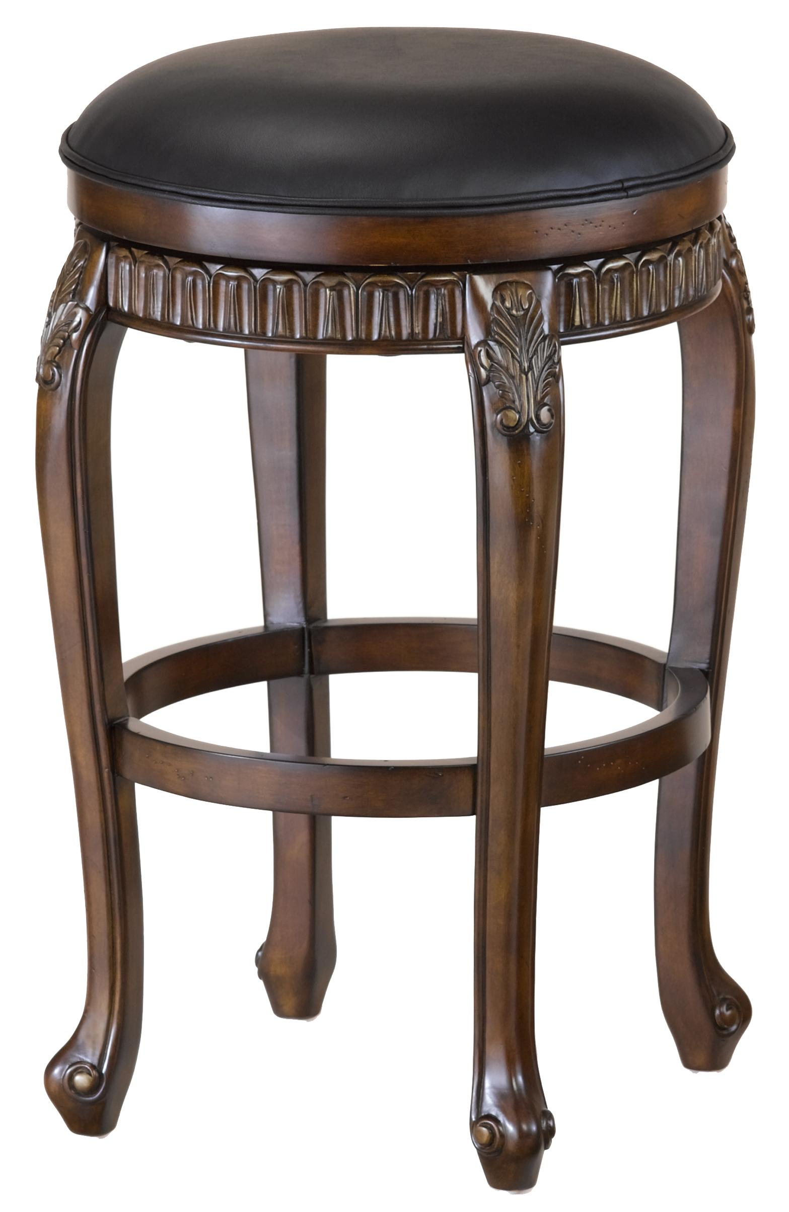 backless chair height stool ikea slipcovers hillsdale wood stools 30 quot bar fleur de lis