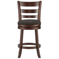 Upholstered Counter Chairs Walmart Table Homelegance Edmond 1144e 24s Height Swivel Stool